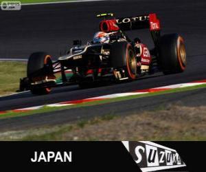 Puzzle de Romain Grosjean - Lotus - Gran Premio de Japón 2013, 3er Clasificado