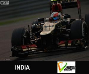 Puzzle de Romain Grosjean - Lotus - Gran Premio de la India 2013, 3er Clasificado