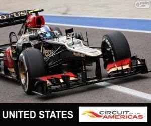 Puzzle de Romain Grosjean - Lotus - Gran Premio de Estados Unidos 2013, 2º Clasificado