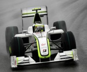 Puzzle de Rubens Barrichello pilotando su F1
