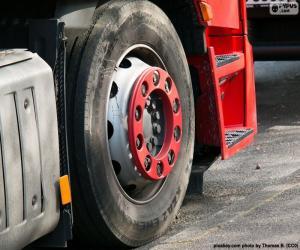 Puzzle de Rueda camión