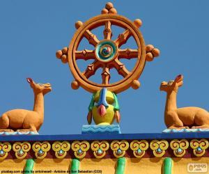 Puzzle de Rueda del Dharma