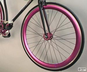 Puzzle de Rueda delantera bicicleta