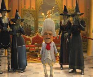 Puzzle de Rumpelstiltskin es el rey con un ejérctio de brujas a sus órdenes