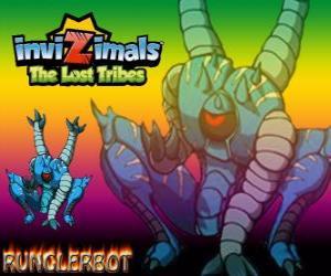 Puzzle de Runglerbot. Invizimals Las Tribus Perdidas. Un guerrero ágil y versátil pues puede atacar con todas las partes del cuerpo
