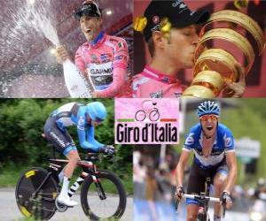 Puzzle de Ryder Hesjedal, campeón del Giro de Italia 2012