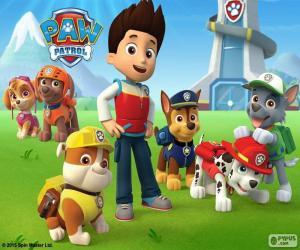 Puzzle de Ryder y perros Paw Patrol