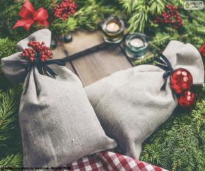 Puzzle de Sacos de regalo de Navidad