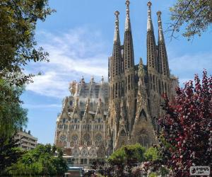 Puzzle de Sagrada Familia, Barcelona