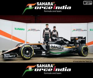 Puzzle de Sahara Force India F1 2016
