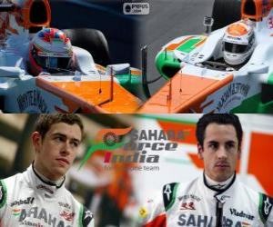 Puzzle de Sahara Force India F1 Team 2013