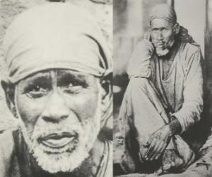 Puzzle de Sai Baba de Shirdi, el gurú indio, yogui y faquir que es considerado por sus seguidores como un santo