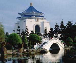 Puzzle de Salón Conmemorativo de Chiang Kai-shek, Taipéi, Taiwán