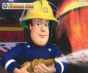 Puzzle de Sam el bombero con la manguera