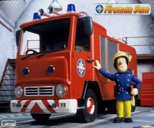 Puzzle de Sam junto a Jupiter el camión de bomberos