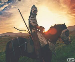 Puzzle de Samurái a caballo