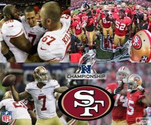 Puzzle de San Francisco 49ers campeón de la NFC 2012