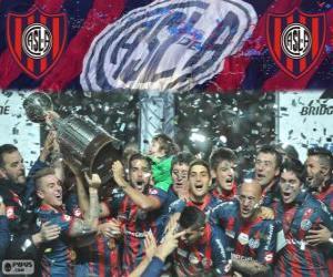 Puzzle de San Lorenzo de Almagro, campeón de la Copa Libertadores 2014