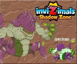 Puzzle de Sanctacaris. Invizimals La otra dimensión. El primer dinosaurio que usó las manos para combatir