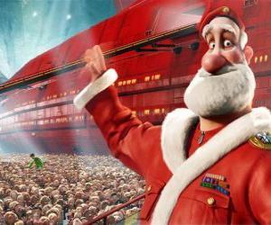 Puzzle de Santa Claus o Papá Noel, el padre de Arthur Christmas