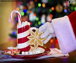 Puzzle de Santa Claus y dulces