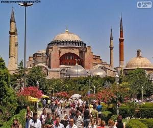 Puzzle de Santa Sofía, Estambul, Turquía