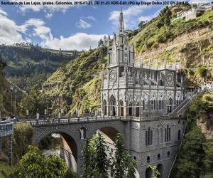 Puzzle de Santuario de Las Lajas, Colombia