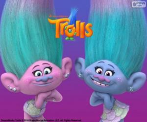 Puzzle de Satén y Chanelle, gemelas