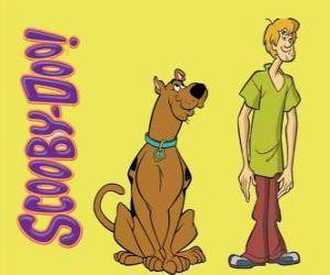 Puzzle de Scooby-Doo y Shaggy, dos amigos