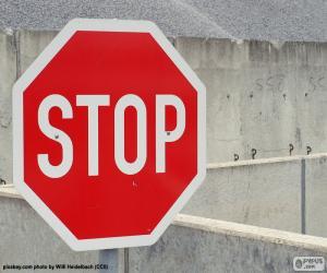 Puzzle de Señal de stop, alto, pare