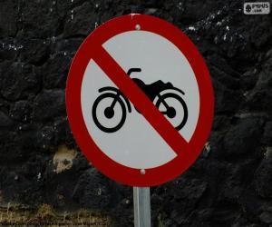 Puzzle de Señal prohibido motocicletas