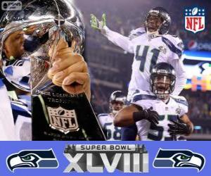 Puzzle de Seattle Seahawks, Campeones Super Bowl 2014