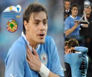 Puzzle de Sebastian Coates mejor revelación Copa América 2011