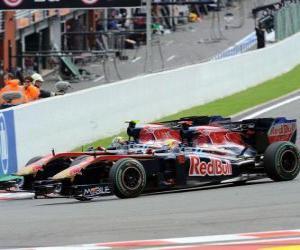 Puzzle de Sebastien Buemi, Jaime Alguersuari - Toro Rosso - Spa-Francorchamps 2010