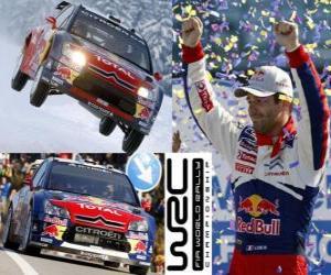 Puzzle de Sebastien Loeb (Citroen) campeón del mundo de Rallys 2010