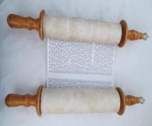 Puzzle de Sefer Torah, un rollo de la Torá