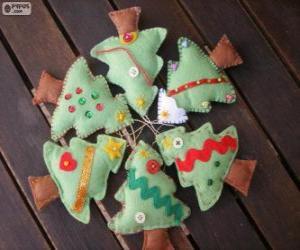 Puzzle de Seis árbolillos de Navidad
