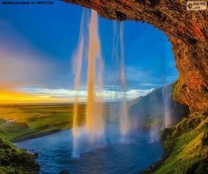 Puzzle de Seljalandsfoss, Islandia
