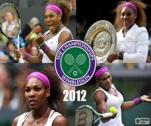 Puzzle de Serena Williams Campeona Wimbledon 2012