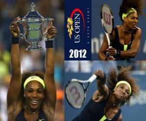 Puzzle de Serena Williams Campeona US Open 2012