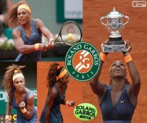 Puzzle de Serena Williams, Campeona Roland Garros 2013