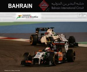 Puzzle de Sergio Pérez - Force India - Gran Premio Bahréin 2014, 3er Clasificado