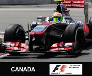 Puzzle de Sergio Perez - McLaren - Circuit Gilles Villeneuve, Montreal, 2013