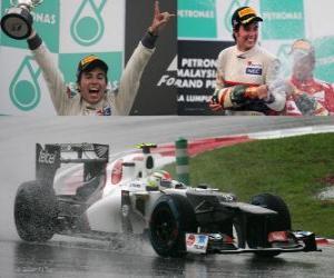 Puzzle de Sergio Perez - Sauber - Gran Premio de Malasia (2012) (2º Clasificado)