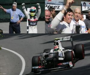 Puzzle de Sergio Perez - Sauber - Gran Premio de Canadá (2012) (3er Clasificado)