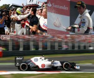 Puzzle de Sergio Perez - Sauber - Gran Premio de Italia 2012, 2º Clasificado