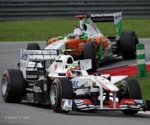 Puzzle de Sergio Perez - Sauber - Sepang 2011
