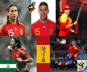 Puzzle de Sergio Ramos (El indio de Camas) defensa Selección Española