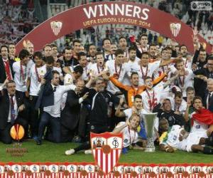 Puzzle de Sevilla FC, campeón UEFA Europa League 2013-2014