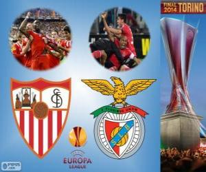 Puzzle de Sevilla vs Benfica. Final de Europa League 2013-2014 en el Juventus Stadium, Turín, Italia